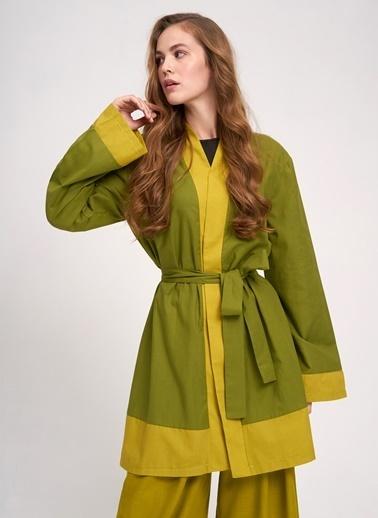 Mizalle Kimono Yeşil